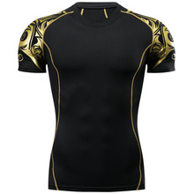 3D ММА Рашгард тренажерный зал футболка одежда компрессионная футболка быстросохнущая Муай Тай дышащие боксерские майки бой ММА Джерси