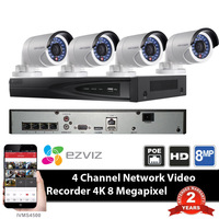 HIK DS 7604NI E1 4P 4ch POE NVR With Original HIKVISION CCTV IP Camera DS 2CD2042WD
