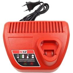 Eu Plug Ac220-240V ładowarka litowo-jonowa do Milwaukee M12 N12 wyjście wejściowe 12V 10.8V 48-59-2401 48-11-2402 elektronarzędzia #8