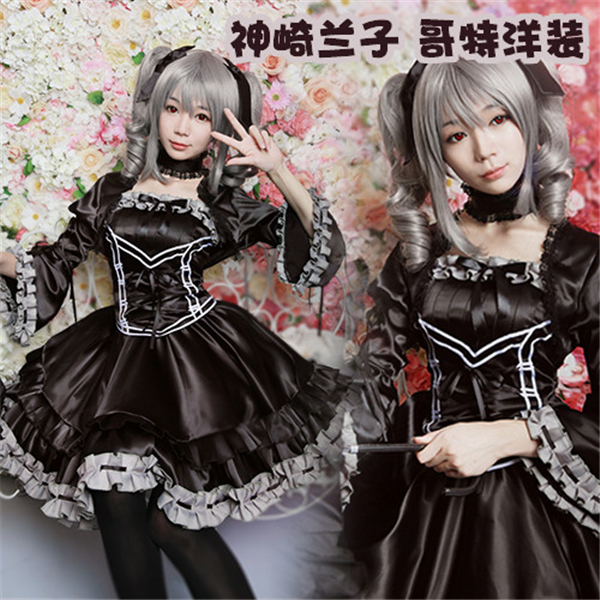 Здесь продается  2017 New Clothing Cosplay Anime THE IDOLM@STER Kanzaki Ranko Cos Gothic Dress Custom Made Halloween Party Free Shipping  Одежда и аксессуары