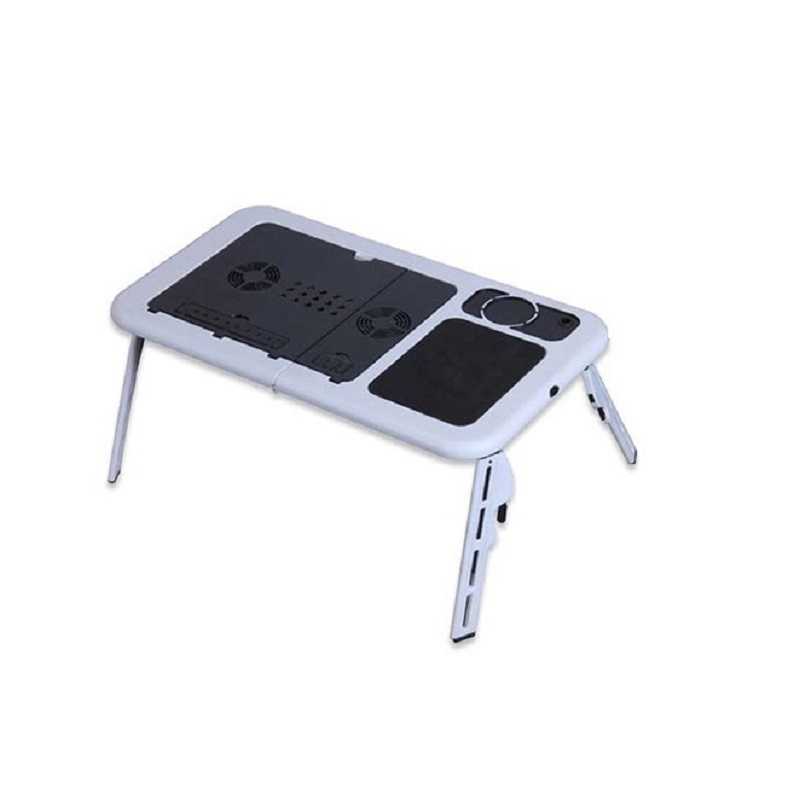 Multifunctional Portable Folding Bed Notebook Comter Desk With A Double Fan Radiator Lazy Comter Desk