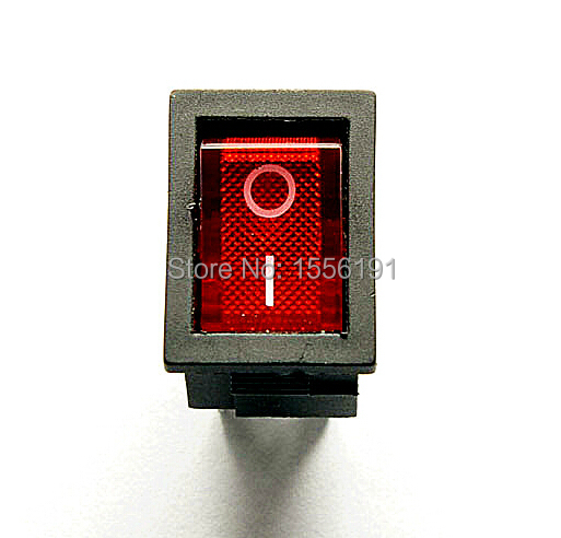 ALL new 10PCS Ship type switch with lamp 4pin 6A/250V 10A/125V KCD1-104 Become warped board power switch Red