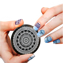 40Design/Lot Qgirl Series Nail Art Stamp Stamping  5.5CM Stainless Steel Flower Image Plate Template