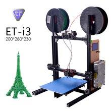 YITE ET-i3 Professionelle 3d-drucker DIY China Große Größe 200*280*230mm 3d-drucker 1,75mm PLA ABS Filament diy Modell Einfach Lehre