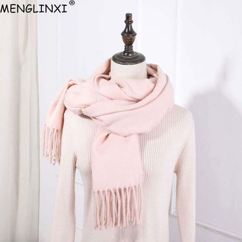 New Design Cashmere   Scarf   Women   Scarves   Winter Soft Warm Shawl For Lady Solid   Scarves     Wraps   Fashion Kerchief Pashmina