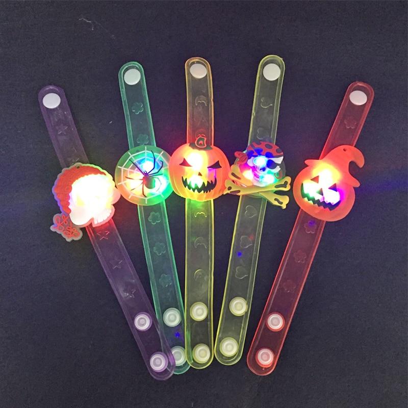 24pcs / lot Flash LED İşıqlandırma Uşaqlar Qolbaq Bilək Qrupu - Şənlik aksesuarları - Fotoqrafiya 1