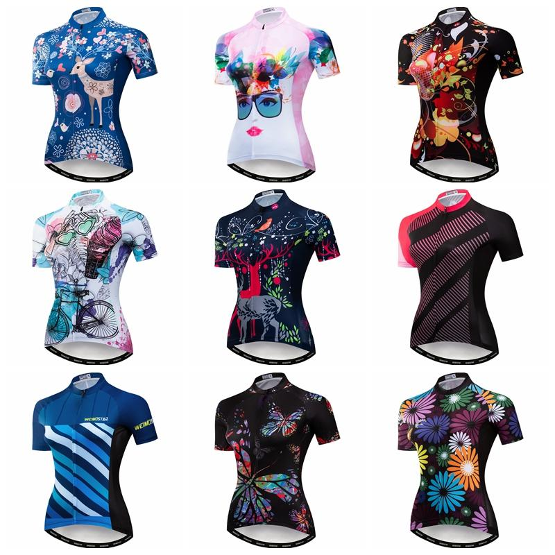 New Summer Cycling Jersey Women 2018 Bike Team Short Sleeve Mtb Bicycle Clothing Ride Bike Eat Cookie Wear Clothes Breathable