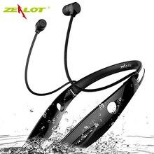 Zeloti H1 impermeabile Pieghevole cuffie Senza Fili Auricolare audifonos fone Bluetooth Stereo Sportivo HiFi Led Cuff