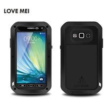 Lovemei для Samsung Galaxy A7 2015 SM-A700F Случае Жизнь Водонепроницаемый Противоударный Алюминий + Кремния + Gorilla Glass Hybrid Металлической Крышкой