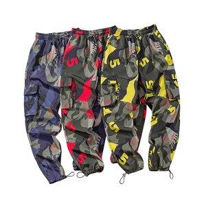 Image 5 - Мужские камуфляжные брюки карго, уличные штаны шаровары для фитнеса, удобные штаны длиной до щиколотки, модель LBZ44, 2020