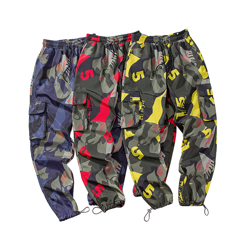 Image 5 - 2019 New Men Camouflage Cargo Pants Men Street Harem Pants Fitness Runners Trousers Comfortable Ankle Length Sweatpants LBZ44-in Harem Pants from Men's Clothing