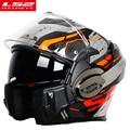 Nieuwe Collectie LS2 FF399 motorhelm Man Vrouwen full face Chrome helm met anti-fog pinlock flip up LS2 motorhelmen