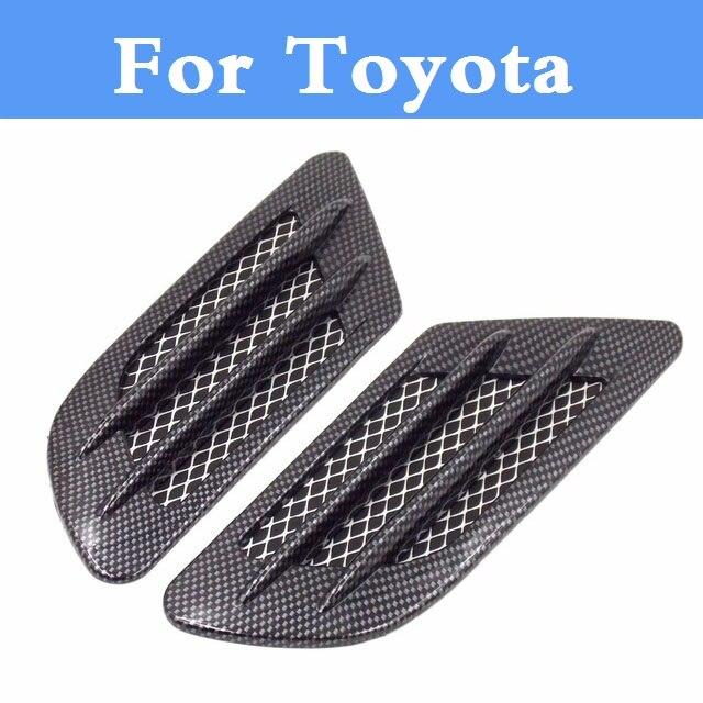 Carbon fiber Shark Gills Shape Intake Grille Wind Net Sticker For Toyota Camry Solara Celica Celsior Century Corolla Fielder