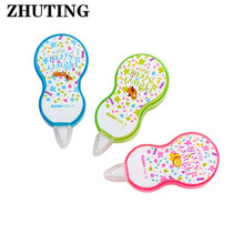 Colorful Flowers Cute Cartoon Animal Push Correction Tape Office School Students Writing Stationery