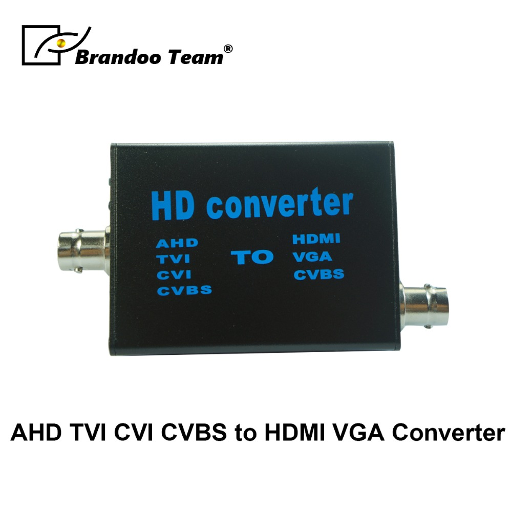 HD AHD TVI CVI CVBS Video Converter Signal to HDMI VGA CVBS With 720P/1080P HDMI