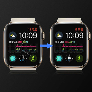 Image 3 - 2PCS 9D מלא מעוגל רך מזג זכוכית עבור Apple שעון 38 40 42 44 mm מסך מגן על אני שעון 4 5 מגן זכוכית סרט
