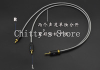 3 5mm To Double Lotus RCA Audio Cable 5N Single Crystal Copper Wire