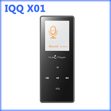 IQQ X01 deporte reproductor de mp3 bluetooth con pantalla de 1.8 pulgadas mp3 música reproductor de radio fm Tarjeta Micro DEL TF Ranura 16/32 GB 3 MP