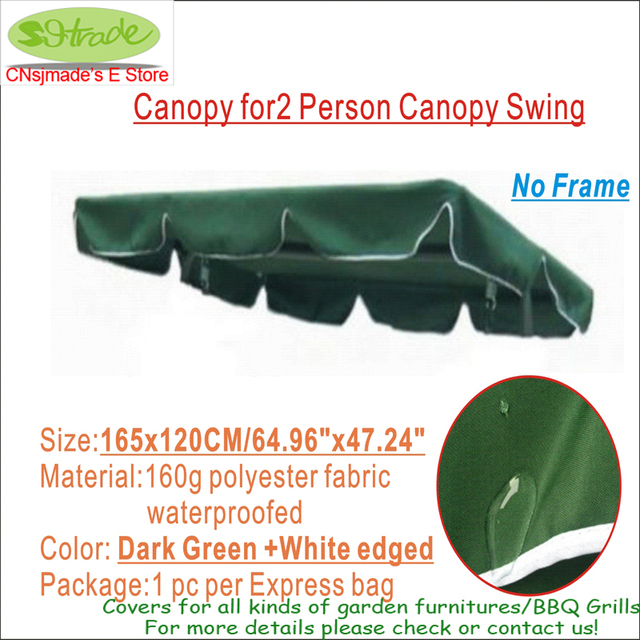 Replacement Canopy 165X120CM for 2 Person Canopy Swing -Dark Green Colorpolyester fabric canopy  sc 1 st  AliExpress.com & Replacement Canopy 165X120CM for 2 Person Canopy Swing Dark Green ...