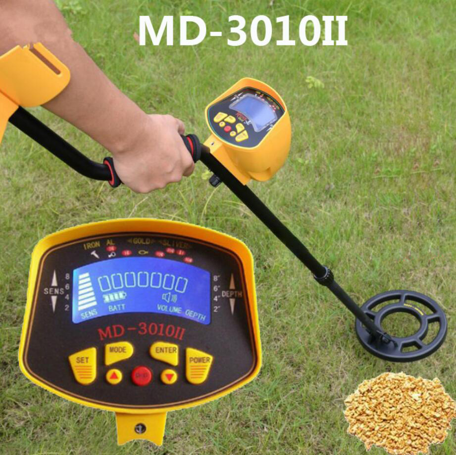 MD-3010 Metal Detector Gold Digger Treasure Hunter Ground Searching Metal Detector/Nugget Finder Gold Silver Detector MD3010(China)