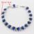 Rodada Cor Prata Mulheres Natal Conjuntos de Jóias Azul Imitado Sapphire AAA CZ Colar Pingente Brincos Anéis Pulseira
