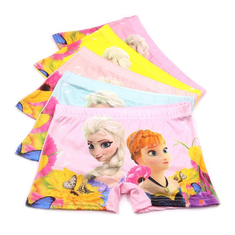 5pcs/lot 2-8Y Underpants Briefs For Girl Boy Underwears Panties Infant Boxer Briefs Frozen Princess Cotton Teenagers Underwears