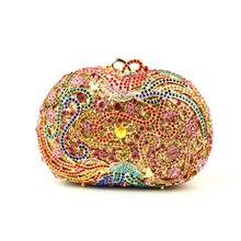 Schöne Silber Kupplung Taschen für Prom Kleine Größe Floral Kristall Abendtaschen Mode Geldbörsen für Frauen Brautjungfer Kupplungen Verkauf