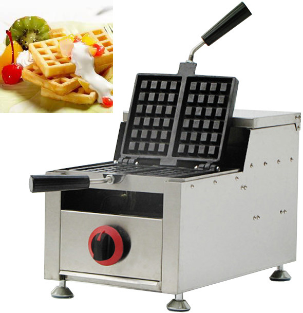 Stainless Steel  Gas Swings waffle maker_ rectangle waffle maker fast food leisure fast food equipment stainless steel gas fryer 3l spanish churro maker machine