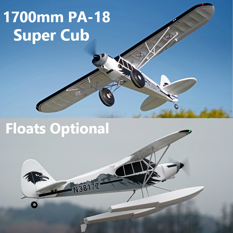 US $262 98 9% OFF|FMS RC Airplane 1700MM 1 7M PA 18 J3 Piper Super Cub  Trainer Beginner 4S 5CH PNP Model Plane Aircraft PA18 J 3 (Floats  optional)-in