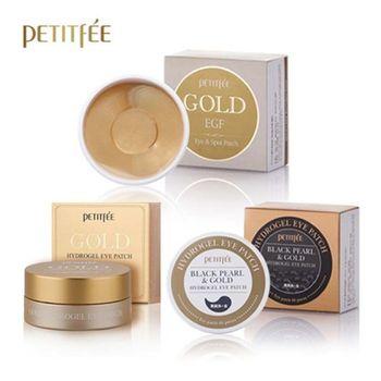 PETITFEE Eye Mask Set 3pcs ( Gold Hydrogel +  Gold EGF Eye & Spot +  Black Pearl & Gold ) Skin Care Sleep Mask Korea Eye Patch