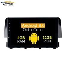 2 din Android 8,0 автомобильный мультимедийный плеер радио головное устройство для Honda Civic 2016 2017 2018 gps навигации стерео без dvd 8 core 4 + 32 г