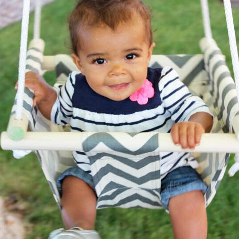 Toile et bois bébé bambin sécurité chaise suspendue balançoire siège intérieur et extérieur jouet balançoire hamac livraison gratuite