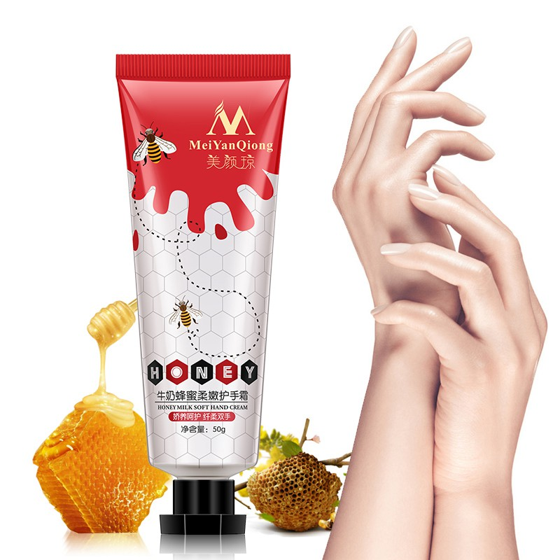 Hand Creams & Lotions Honey Milk Soft Cream Nourishing Gentle Repair Hand Skin Care Moisturizing Whitening Hand Cream
