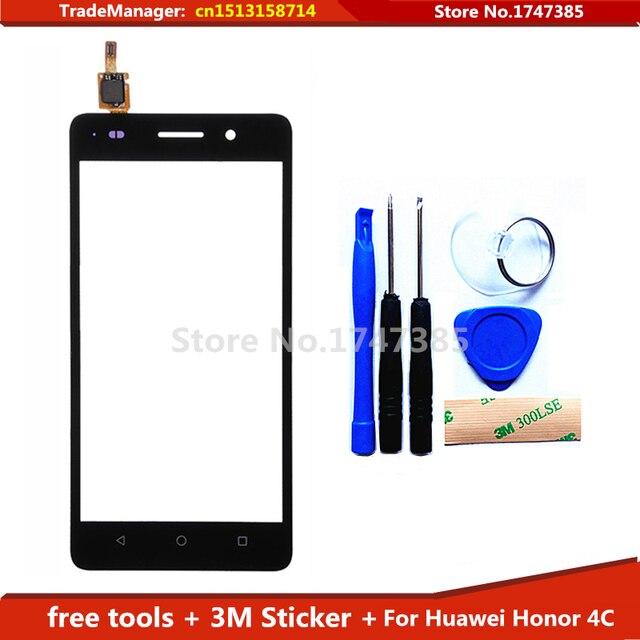 Diy livre ferramentas + 3 M adesivo Original novo para Huawei Honor 4C vidro da tela de toque sensor capacitivo painel TouchScreen preto
