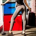 S-XL 4 Colores Polainas de Las Mujeres de La Manera Gris Breathble Advanture Tiempo Leggings Mujeres de Cintura Alta Leggings Negro Sportswear Entrenamiento
