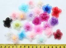 300 шт цветы из органзы 24 мм