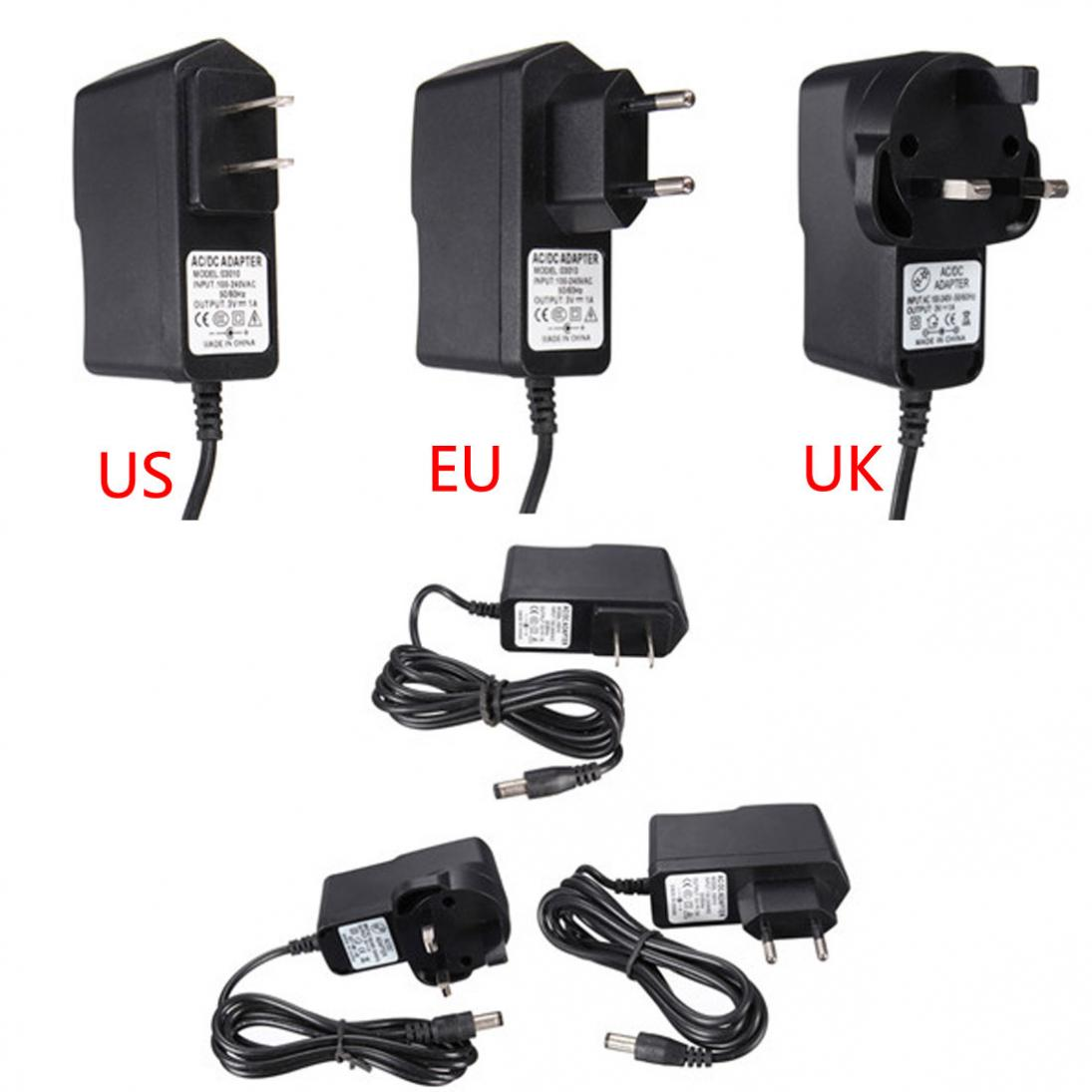 Universal  EU / UK Plug DC 3V 1A Power Supply Adapter 100-240 AC Charger