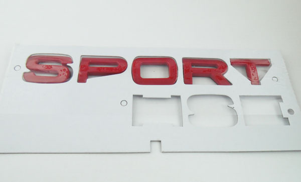 Auto car 2013 Red Sport Limited Edition for Range Rover Emblem Badge Sticker auto chrome for 2008 2013 genesis front rear wing emblem badge sticker