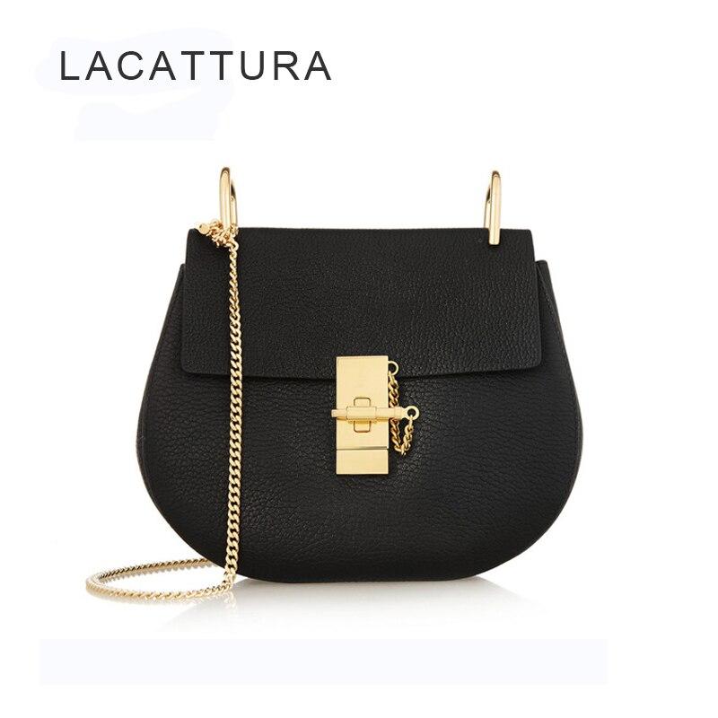 Detail Feedback Questions about LACATTURA Woman Bags Luxury Paris Brand  Designer Women Handbags High Quality Lady Small Chain Shoulder Bag Fashion  Saddle ... c2170dd067d4e