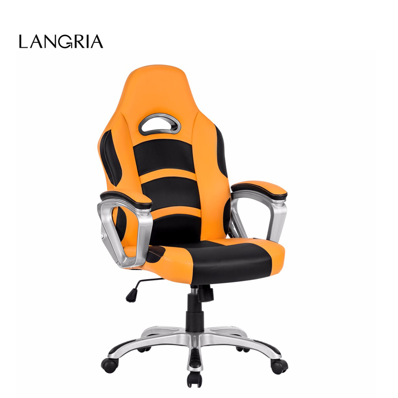 Langria Brand Ergonomic High Back Faux Leather Racing Style Computer Gaming Executive Office Chair Us Warehouse Domestic Ship In Chairs From