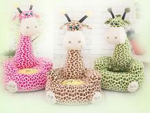 2018 Baby Seat Beanbag Cartoon Kawaii Cute Giraffe Children Sofa for Kids Sleeping Bed Baby Nest Puff Chair Bean Bag Plush Toys
