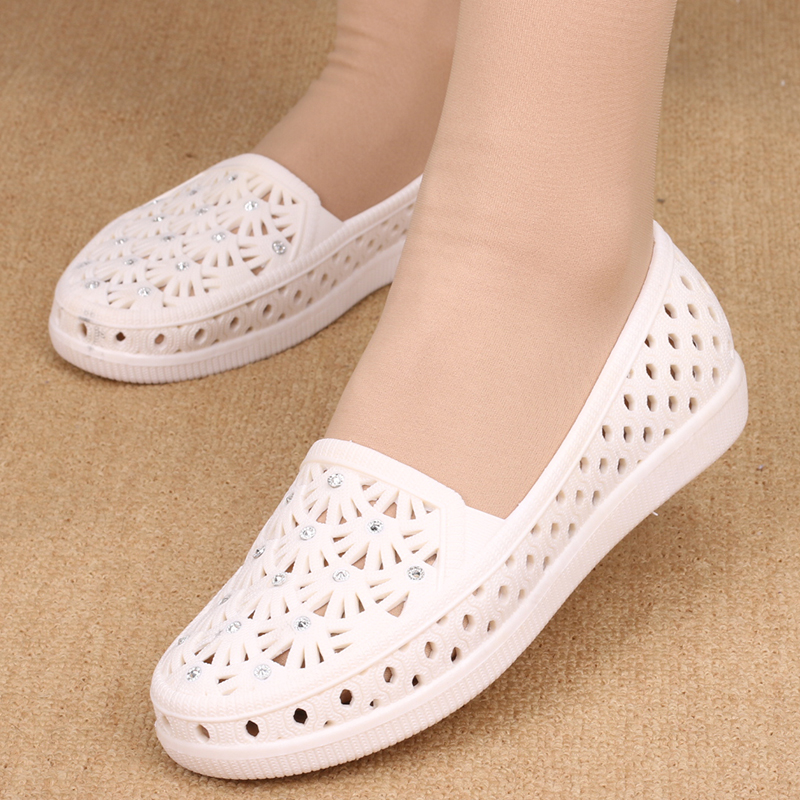 Cresfimix Sapatos Femininas Women Fashion Comfortable Breathable Summer Shoes Lady Cute Spring Slip On Jelly Flat Shoes A2040