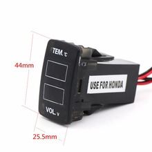 Digital Interface LCD, Voltage Meter, Battery Monitor and Car Thermometer For Honda