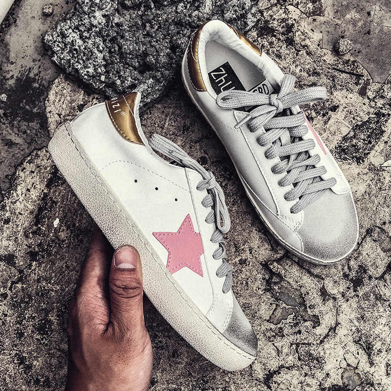Casual shoes women autumn 2018 white sneakers Lace-Up platform sneaker  fashion star sneakers vulcanized 99e5f74bd219