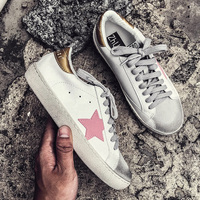 Casual shoes women autumn 2018 white sneakers Lace Up platform sneaker fashion star sneakers vulcanized shoes ulzzang shoes