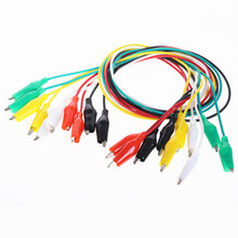 10pcs Alligator Clips Electrical DIY Test Leads Double-ended Crocodile Roach Clip Jumper Wire 50cm