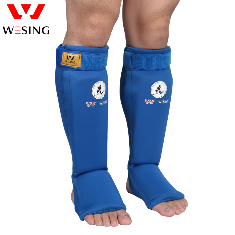 Wesing Muay Thai Shin Guards IFMA Approved Shin Instep Guard Knee Pads Protective Training Kickboxing Leg Sleeves Plus Size XL