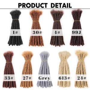 Image 5 - 10 אינץ סרוגה שיער בעבודת יד ראסטות סינטטי שיער Locs רגאיי סרוג קולעת שיער הארכת עבור שחור נשים/גבר
