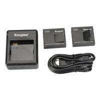 KingMa 2pcs Xiaomi Yi Battery 1010mAh 1pcs Xiao Yi Battery Dual Double Charger For Xiaomi Yi
