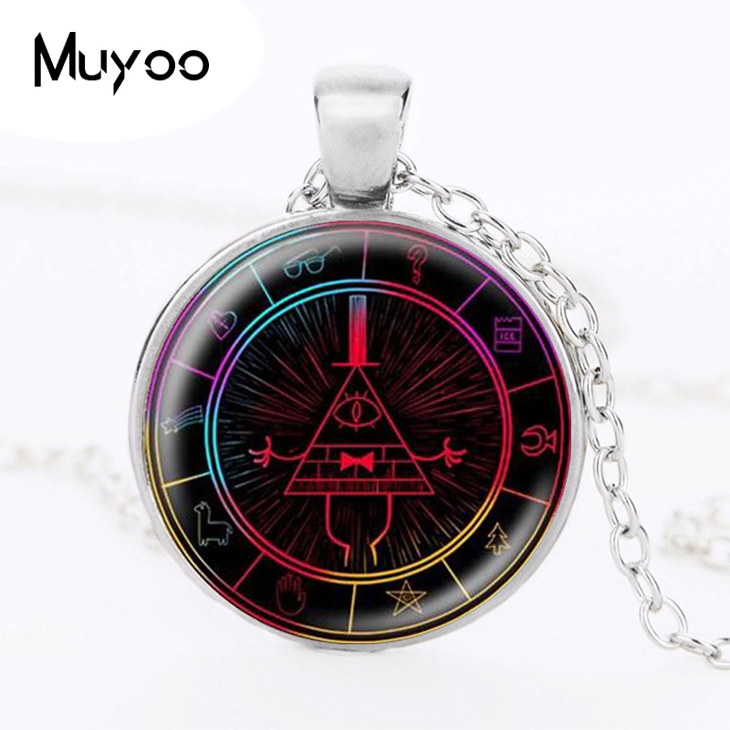 25mm Round Pendant Necklace Steampunk Drama Gravity Falls Mysteries BILL CIPHER WHEEL Jewelry glass Photo doctor who HZ1